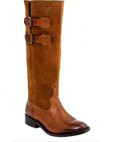 Lucchese Women's Paige Suede Riding Boots - Round Toe