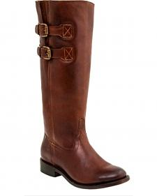 Lucchese Women's Paige Cowhide Riding Boots - Round Toe