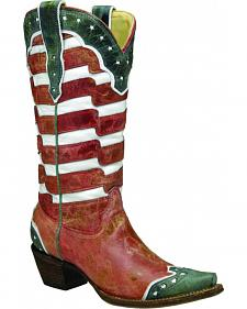 Corral Women's American Flag Cowgirl Boots - Snip Toe