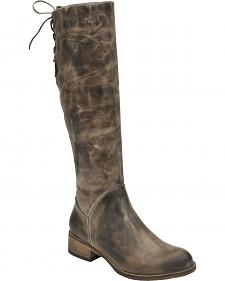 Corral Chocolate Taupe Lace-Up Tall Boots - Round Toe