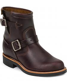 "Chippewa Women's Cognac 7"" Engineer Boots - Round Toe"