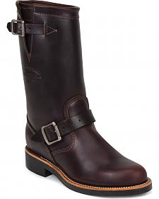 "Chippewa Women's Cognac 11"" Engineer Boots - Round Toe"