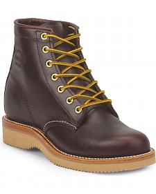"Chippewa Women's Wine 6"" Lace Up Boots - Round Toe"