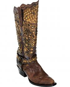 Ferrini Chocolate Country Rebel Cowgirl Boots - Pointed Toe