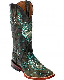 Ferrini Jubilee Studded Cowgirl Boots - Square Toe