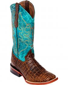 Ferrini Women's Belly Print Cowgirl Boots - Square Toe