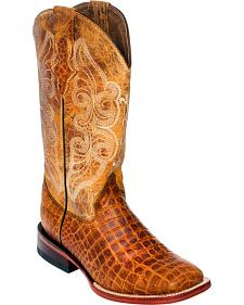 Ferrini Women's Honey Belly Print Cowgirl Boots - Square Toe