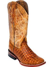 Ferrini Women's Honey Belly Print Cowgirl Boots - Square Toe