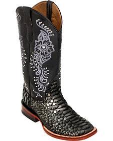 Ferrini Women's Python Print Cowgirl Boots - Square Toe