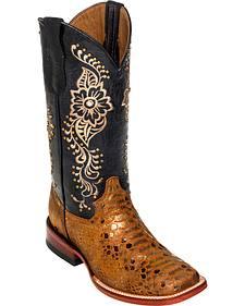 Ferrini Women's Bronze Python Print Cowgirl Boots - Square Toe