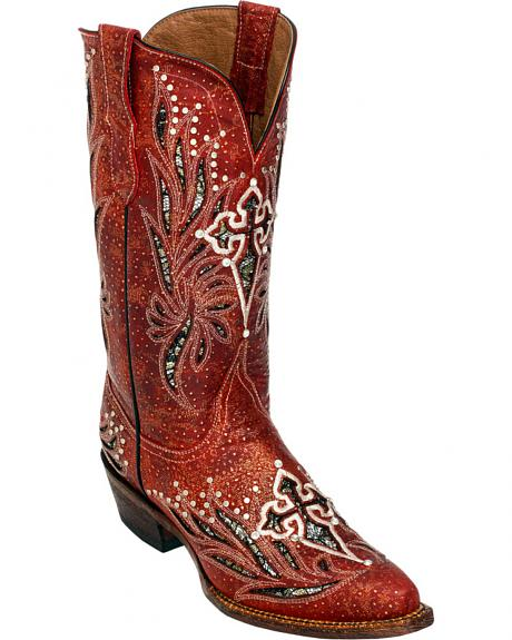 Ferrini Red Vixen Cowgirl Boots - Pointed Toe