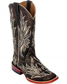 Ferrini Chocolate Vixen Cowgirl Boots - Square Toe