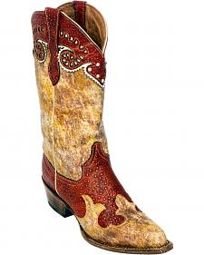 Ferrini Red Sweetheart Cowgirl Boots - Pointed Toe