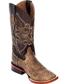 Ferrini Elephant Print Cowgirl Boots - Square Toe