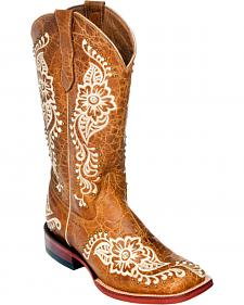 Ferrini Wild Flower Cowgirl Boots - Square Toe