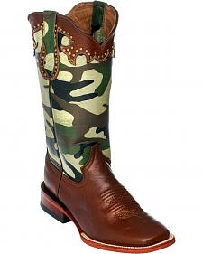 Ferrini Brown Camo Cowgirl Boots - Square Toe
