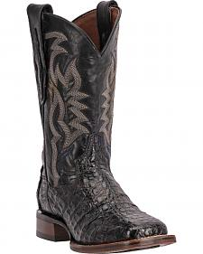 Dan Post Women's Everglades Caiman Black Exotic Western Boots - Square Toe