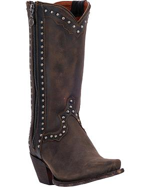 Dan Post Womens Heatwave Studded Cowgirl Boots - Snip Toe
