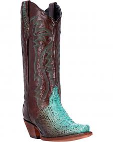 Dan Post Charmer Python Cowgirl Boots - Snip Toe