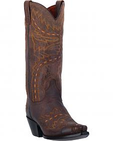 Dan Post Women's Brown Sidewinder Western Boots - Snip Toe