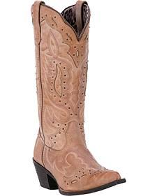 Laredo Women's Brown Presley Western Boots - Snip Toe