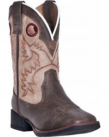 Dan Post Boys' Collared Cowboy Boots - Square Toe