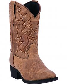 Laredo Boys' Brown Hoss Cowboy Boots - Round Toe