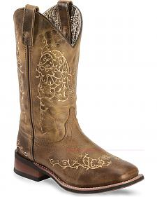 Laredo Ivy Cowgirl Boots - Square Toe