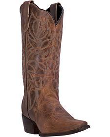 Laredo Women's Taupe Leeza Western Boots - Snip Toe