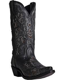 Laredo Peekaboo Goat Cowgirl Boots - Snip Toe