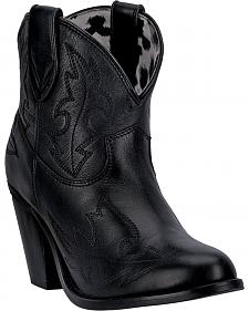 Dingo Women's Black Billie Cowgirl Boots - Round Toe