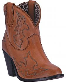 Dingo Women's Brown Billie Cowgirl Boots - Round Toe