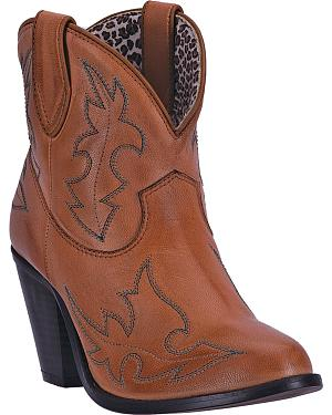 Dingo Womens Brown Billie Cowgirl Boots - Round Toe