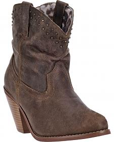 Dingo Lou Lou Short Cowgirl Boots - Round Toe