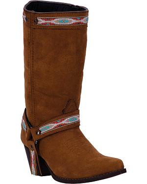 Dingo Womens Rust Martine Cowgirl Boots - Pointed Toe