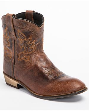 Dingo Willie Short Cowgirl Boots - Round Toe