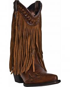 Dingo Heart Throb Fringe Cowgirl Boots - Snip Toe