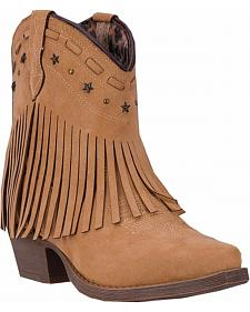 Dingo Cassidy Fringe Short Cowgirl Boots - Snip Toe