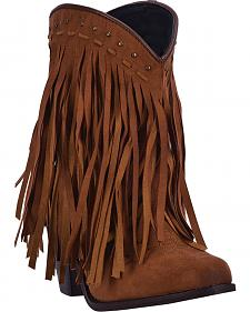 Dingo Women's Hypnotic Brown Fringe Western Boots - Round Toe