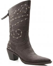 Roper Studded Zipper Cowgirl Boots - Pointed Toe