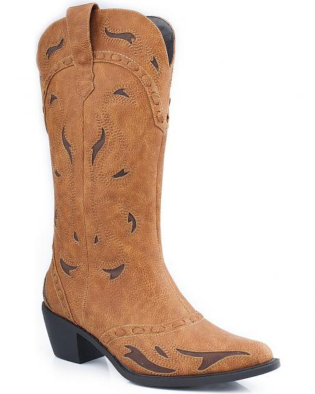 Roper Inlay Cowgirl Boots - Pointed Toe