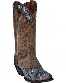 Dan Post Daisy Floral Embroidered Cowgirl Boots - Snip Toe