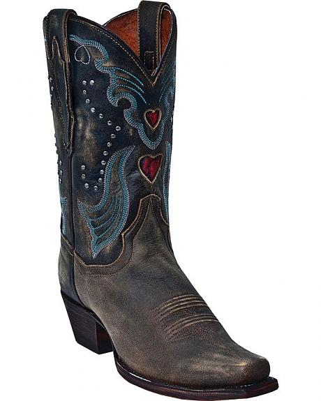 Dan Post Steel Heart Cowgirl Boots - Square Toe