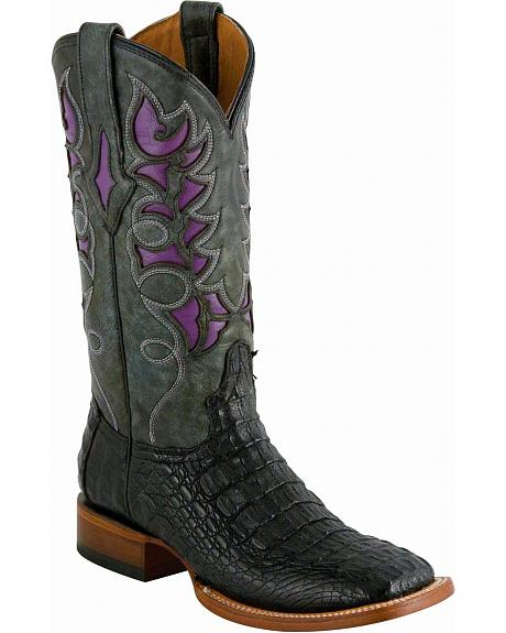 Lucchese Handcrafted 1883 Caiman Winnsboro Laser Inlay Cowgirl Boots