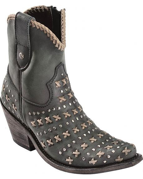 Liberty Black Vintage Negro Cowgirl Boots - Pointed Toe