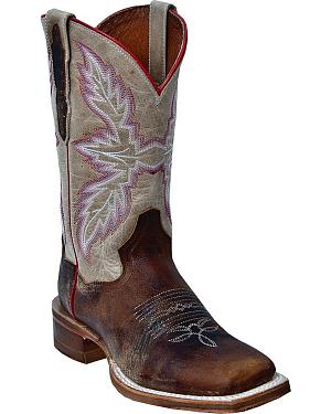 Dan Post Flagger Cowgirl Boots - Square Toe