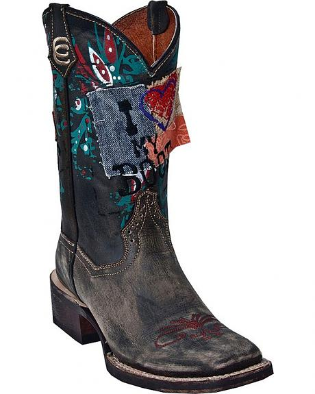 Dan Post High Roller Cowgirl Boots - Square Toe