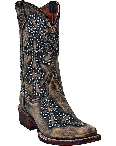 Dan Post Cross Walker Cowgirl Boots - Square Toe