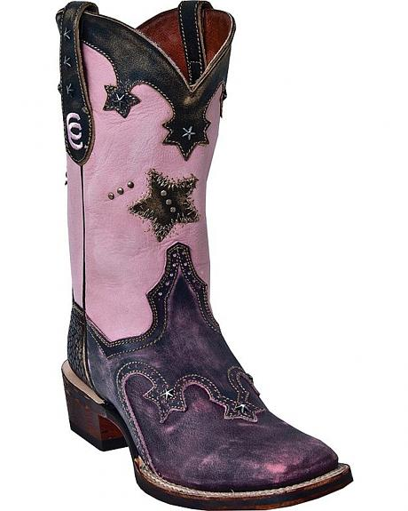 Dan Post Vintage Star Cowgirl Boots - Square Toe