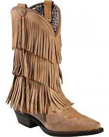 Dingo Tres Fringe Cowgirl Boots - Snip Toe